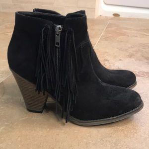 Fringe Detailing ankle boots